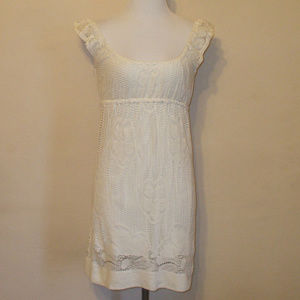 Cream Lace Boho Peasant Dress